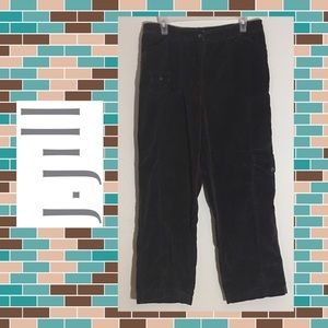 J. Jill Brown Velour Cargo Pants